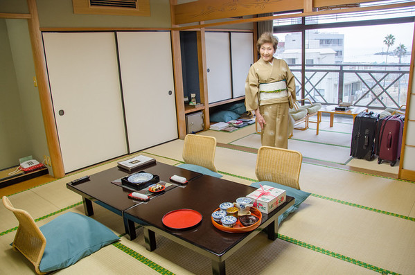 Your ryokan room will have a maid. Be sure to tip her! Tips and etiquette for staying in a Ryokan and Onsen hot spring spa