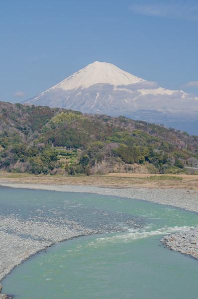 Mount Fuji from the Fujikawa Service Area