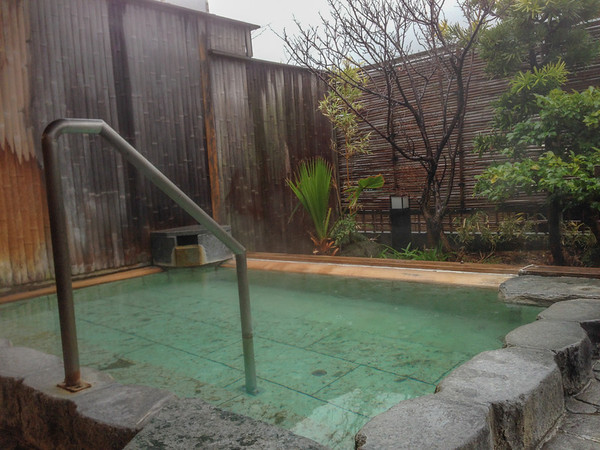 "Inside a traditional Japanese hot spring spa, called a ""onsen""