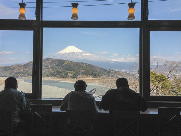 View of Mount Fuji from the Fujikawa Service Area, Japan