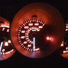Poor cellphone photo of the MS3's cool dashboard at night.