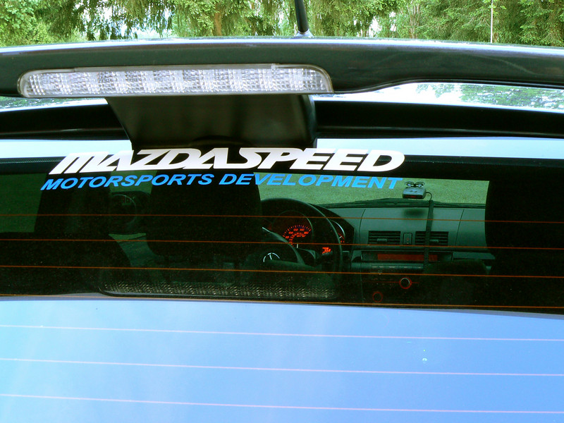 I've since removed the rear window decals but they were cool for awhile :)