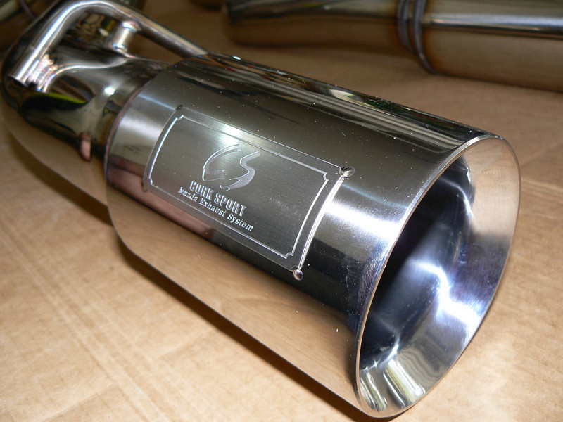 Corksport power series turbo back 80mm high flow exhaust system.