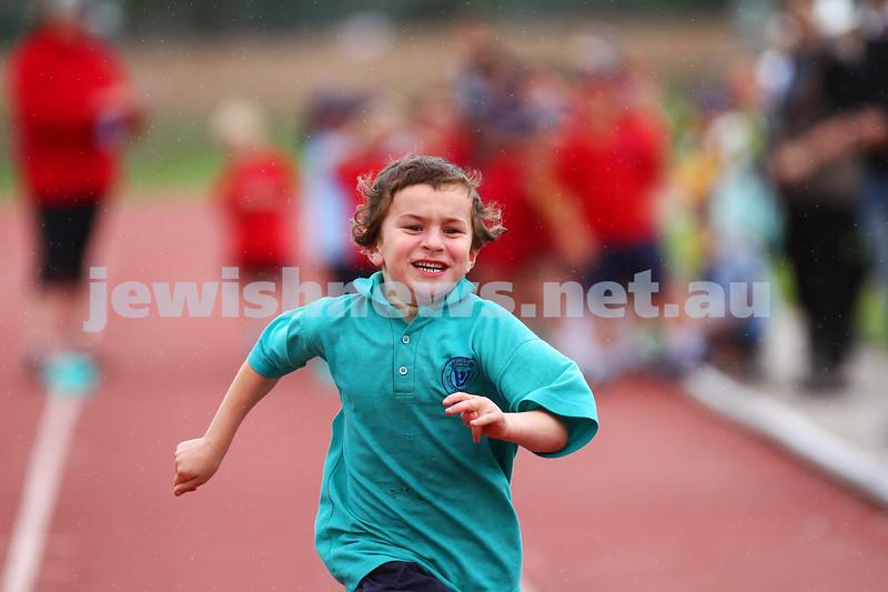 11-12-14. Sholem Aleichem sports day at Duncan McKinnon athletics track. 50m race. Photo: peter haskin
