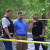 """Police investigate a shooting near Boulder Creek in Central Park. A man reportedly fired shots then pointed his weapon at Boulder police who shot him. <br /> More photos:  <a href=""""http://www.dailycamera.com"""">http://www.dailycamera.com</a><br /> Autumn Parry/Staff Photographer<br /> May 22, 2016"""