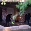 """Divers from the Boulder Fire and Rescue Dive Team search Boulder Creek under the Broadway St. bridge after a shooting in Central Park on Sunday.<br /> More photos:  <a href=""""http://www.dailycamera.com"""">http://www.dailycamera.com</a><br /> Autumn Parry/Staff Photographer<br /> May 22, 2016"""