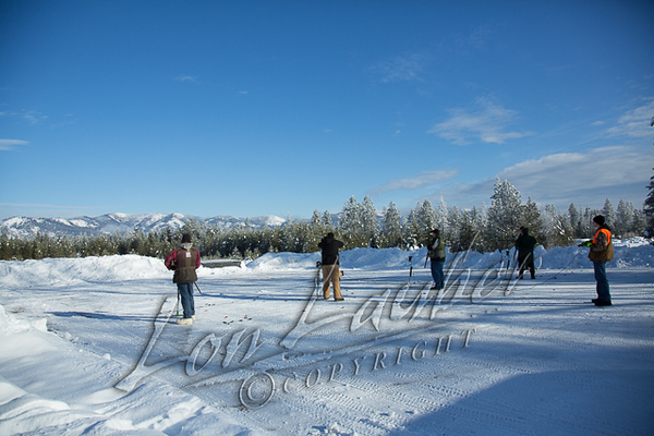 Shooting sports, trap shooting, winter, snow
