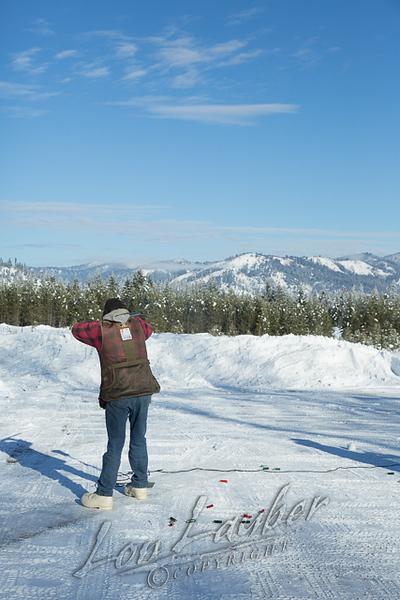 Shooting sports, trap shooting, winter, snow