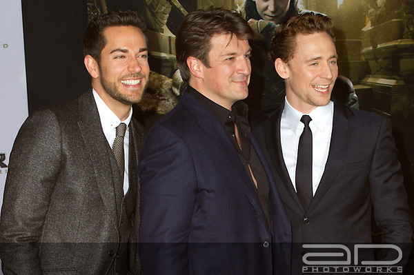Zachary Levi, Nathan Fillion and Tom Hiddleston