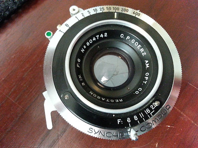 3 in. f6 Goerz Rectagon lens