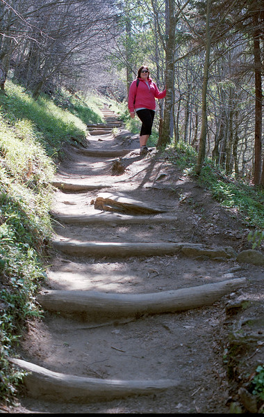 Carolyn on Appalachian Trail
