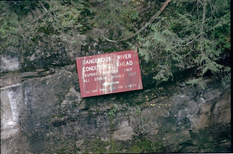 Dangerous River Conditions Ahead