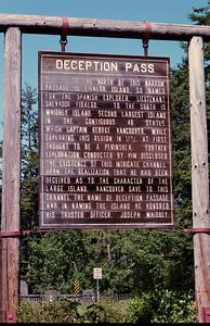 Deception Pass Sign