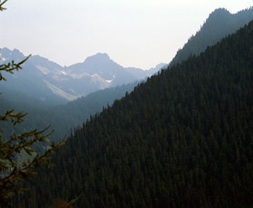Mountain Silhouette From Iron Goat Trail
