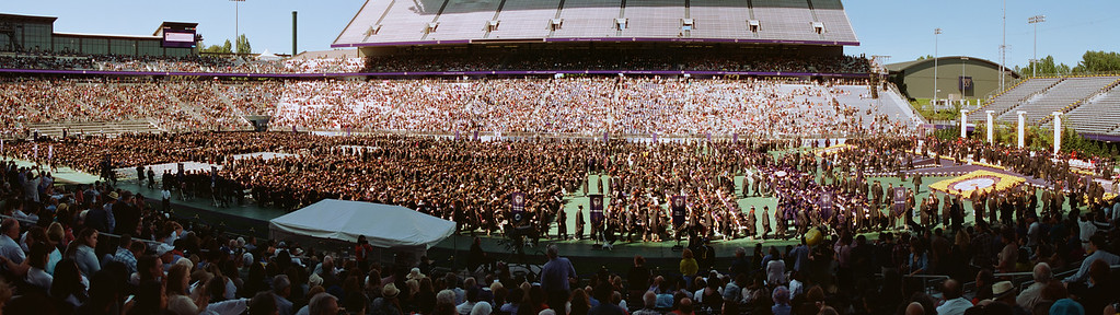 UW Graduation Panorama