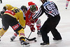 Vienna, Austria, 5. 9. 2013 - EBEL, Erste Bank Eishockey Liga, UPC Vienna Capitals vs. HC Bozen Südtirol in Albert Schultz Halle. Image shows Danny Bois (UPC Vienna Capitals) and Taylor Vause (Hockey Club Bozen Südtirol) .Foto: GEPA Pictures / Gerald Fischer