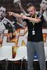 3. 10. 2015 - Handball - HLA, Handball Liga Austria, HC Fivers Margareten vs HC ece bulls Bruck  in Sporthalle Margareten, Vienna, Austria . Image shows Trainer Peter Eckl  (HC Fivers WAT Margareten) .Foto: GEPA Pictures / Gerald Fischer