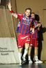3. 10. 2015 - Handball - HLA, Handball Liga Austria, HC Fivers Margareten vs HC ece bulls Bruck  in Sporthalle Margareten, Vienna, Austria . Image shows Lukas Müller (HC Fivers WAT Margareten) .Foto: GEPA Pictures / Gerald Fischer