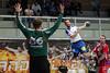 3. 10. 2015 - Handball - HLA, Handball Liga Austria, HC Fivers Margareten vs HC ece bulls Bruck  in Sporthalle Margareten, Vienna, Austria . Image shows Milan Mirkovic (HC ece bulls Bruck)2 .Foto: GEPA Pictures / Gerald Fischer