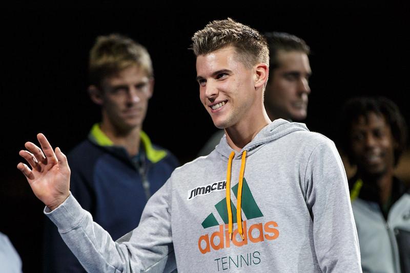 VIENNA,AUSTRIA,19.Oct.2015 - TENNIS - ATP Tour, Erste Bank Open 500. Image shows Dominic Thiem (AUT). Foto: GEPA Pictures / Gerald Fischer
