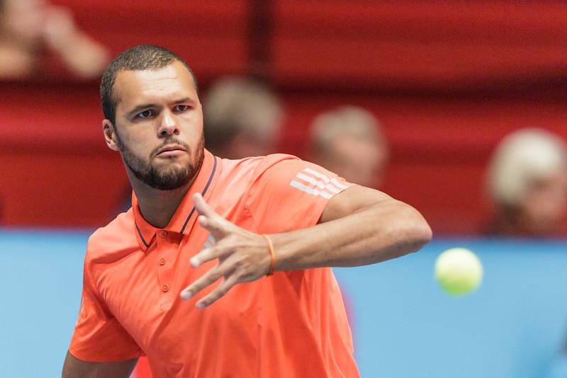 VIENNA,AUSTRIA,22.Oct.2015 -  TENNIS - ATP World Tour - Erste Bank Open 500. Image shows Jo-Wilfried Tsonga (FRA). Foto: GEPA Pictures / Gerald Fischer