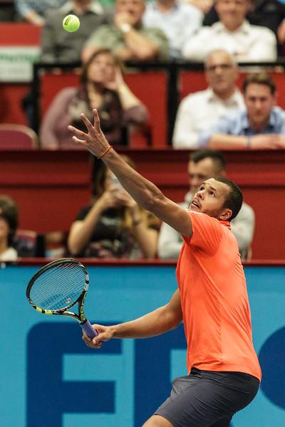 VIENNA,AUSTRIA,21.Oct.2015 -  TENNIS - ATP - Erste Bank Open 500. Image shows Jo-Wilfried Tsonga (FRA). Foto: GEPA Pictures / Gerald Fischer