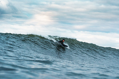 Bodyboarding on the East Coast of England