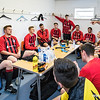 Pre-match locker room briefing for the Arran AFC team - more shots to follow...