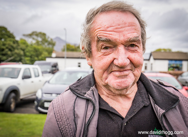 Bobby, a local supporter of the Isle of Arran football team during a match at the Ormidale Park in September 2018.