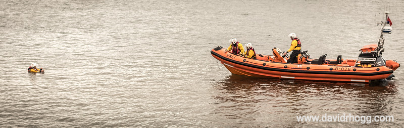 Simulated exercise at the Arran RNLI Open Day - 21st July 2018