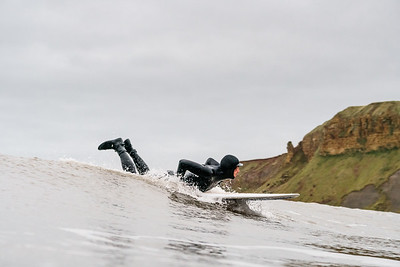 Surfing Cayton Bay, Bunkers - 21 November 2020