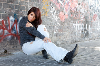 Location shoot with Jessy in and around the Custard Factory area of Birmingham - September 2009
