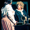 Esther (Trenetta Jones) confronts her landlady (Ann Jenkins) in INTIMATE APPAREL.