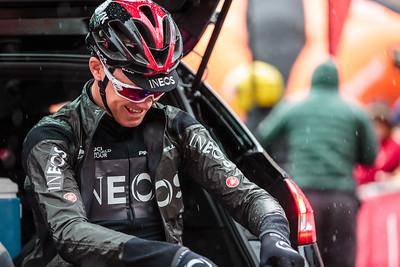 Chris Froome at the Tour De Yorkshire