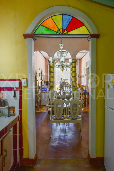 Colonial Stained Glass Doorway