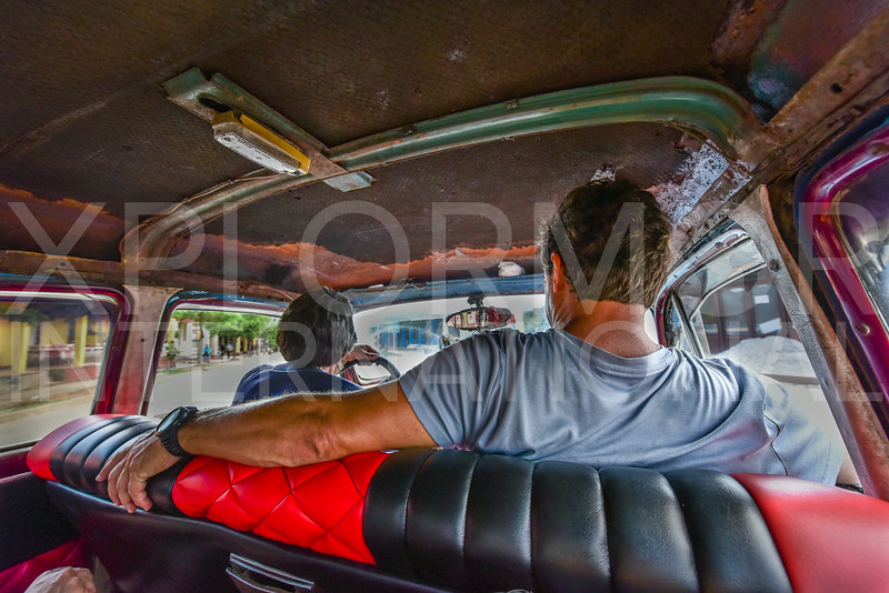 Riding in a Cuban Taxi