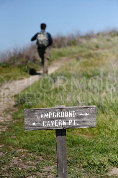 Hiking to Cavern Point