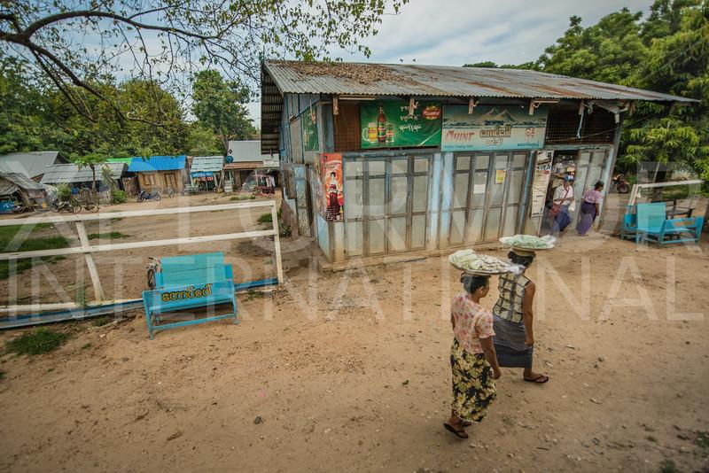 Burmese Ladies Selling Snacks to Train Goers