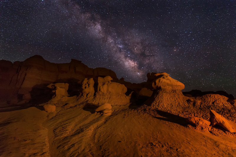 Milky Way At Goblin Valley