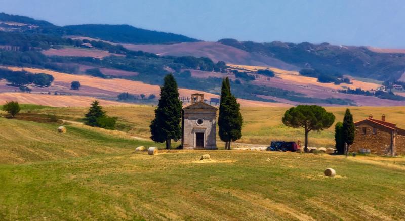 Capella della Madona di Vitaleta, Val D'Orcia