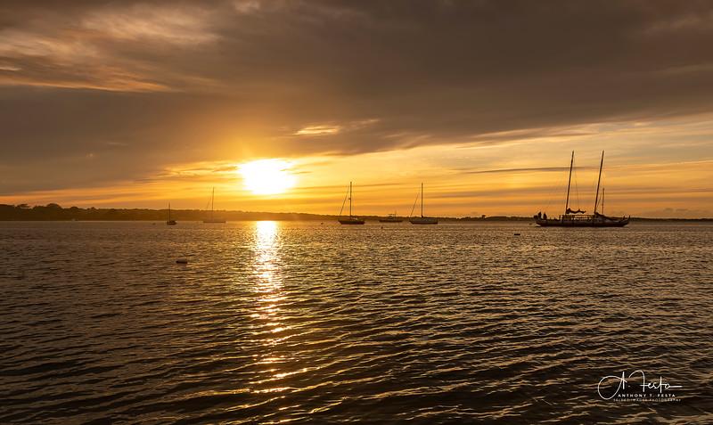 Sunset Over Montauk Lake