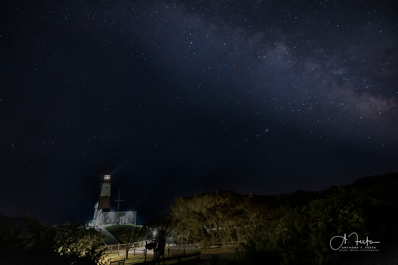 Montauk Lighthouse and the Milky Way