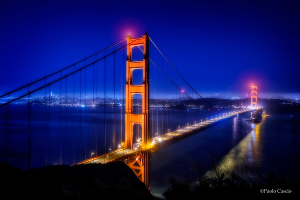 Night Sky-Golden Gate Bridge