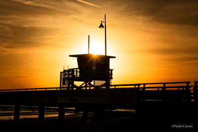 Venice Beach Pier Sunset