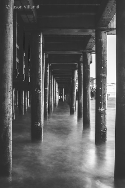 Santa Monica Black and White Pier-2