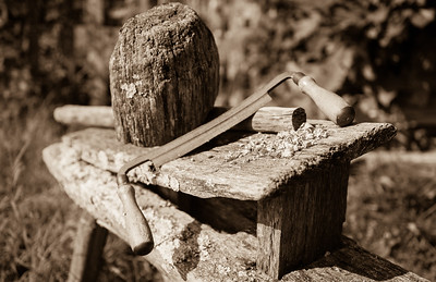 Shave Horse and Drawknife (July 2017)