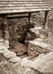 Springhouse Detail of Steps (March 2017)
