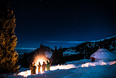 Bonfire at Yurt Camp, Kyrgyzstan