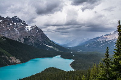 Peyto Lake Before the Storm