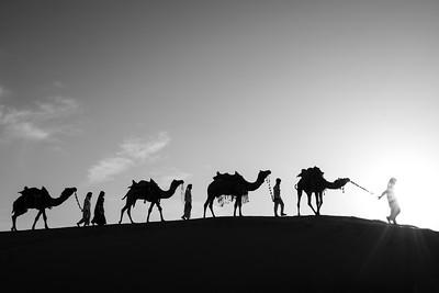 Sunset in the Thar Desert